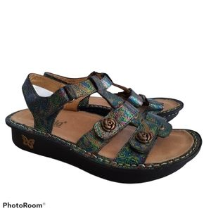 Alegria Kleo Abalone Rose Leather Comfort Sandals
